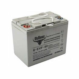 Аккумуляторы и комплектующие - Аккумулятор тяговый для спецтехники Rutrike 6-EVF-80 12 V 92 Ah, 0