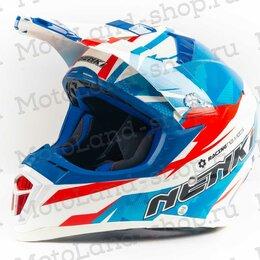 Мотоэкипировка - Шлем мото NENKI (Ненки) 316 (M) #2 white/blue/red, 0
