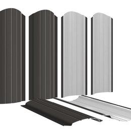 Заборы, ворота и элементы - Штакетник металлический Полукруглый 110мм RAL8019 Темный Шоколад, 0