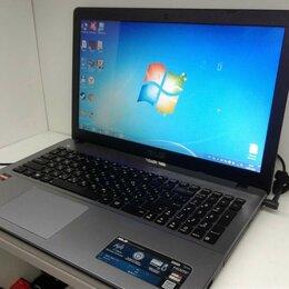 Ноутбуки - ноутбук 15,6 ASUS AMD A8 TURBO 4x3.10 ГГц, оперативная память 8 ГБ, USB 3.0, 0