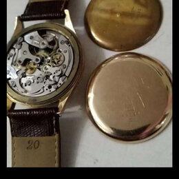 Наручные часы - Часы Швейцарские...Розовое золото...750 пробы..18 карат..1930 года..идут, 0
