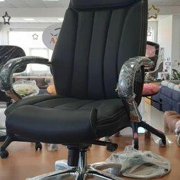 Кресла - Кресло руководителя Бюрократ T-9922SL/BLACK черный кожа, 0