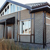 Фасадная плитка Hauberk Серо-Бежевый Кирпич 1000х250х3,3мм 2м2/уп по цене 1180₽ - Готовые строения, фото 4
