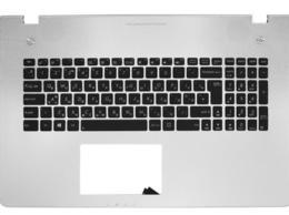Клавиатуры - Клавиатура Asus N76V черная, топ-панель…, 0