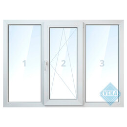 Окна - Тройное окно, 0