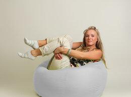 Кресла-мешки - Бескаркасное кресло-мешок Шар Белое, 0