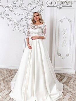 Платья - Атласное свадебное платье с рукавами Милагрос, 0
