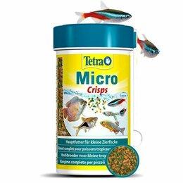 Корма  - Tetra micro crisps корм для мелких видов рыб 100 мл, 0