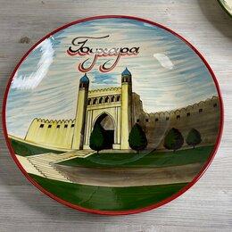 Блюда, салатники и соусники - Ляган с рисунком древних городов Узбекистана 41см., 0