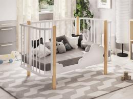 Кровати - Детская кроватка Оливия белый/бук, 0