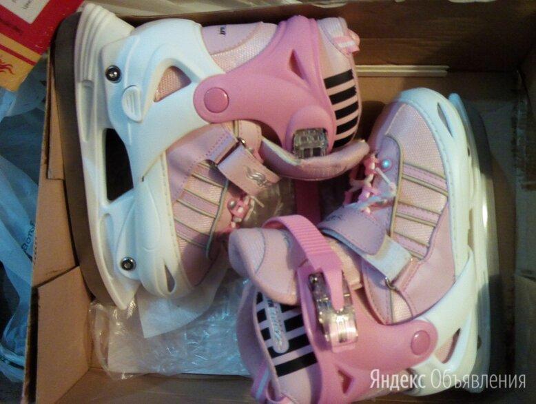 Розовые коньки  регулируемые по цене 500₽ - Коньки, фото 0