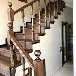 Лестницы и элементы лестниц - Деревянная лестница на второй этаж, 0