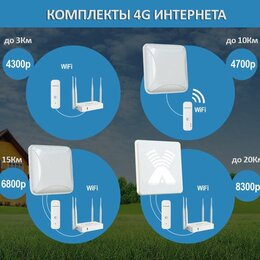 3G,4G, LTE и ADSL модемы - Беспроводной интернет 4G LTE для дома и дачи , 0