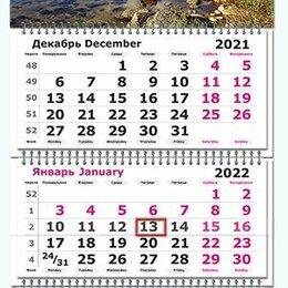 Календари - Квартальный календарь 2022г. Природа 3120-6 Полином /20, 0