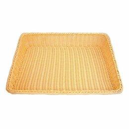 Подставки и держатели - Подставка для выпечки плетеная прямоугольная 61*45*12 см, бежевая, ротанг, P.L. , 0