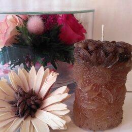 Декоративные свечи - Свеча Ромашка - Кофейная, 0