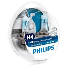 Лампочки - Галогенные лампы H4 Philips White Vision…, 0
