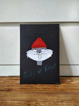 """Картины, постеры, гобелены, панно - Интерьерная картина 20х30 """"Bugs Bunny"""" , 0"""