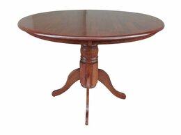 Мебель для кухни - Стол обеденный круглый из массива, 0