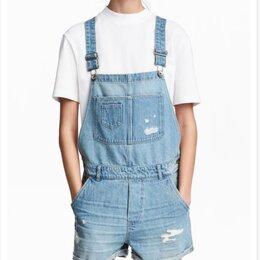 Комбинезоны - Комбинезон голубой джинсовый H&M, р44. Как новый, 0