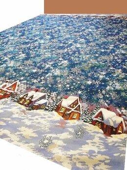 Пледы и покрывала - Снежные домики (265х235 см) - покрывало гобелен, 0