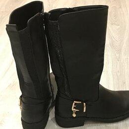 Сапоги - Женские кожаные сапоги, 0