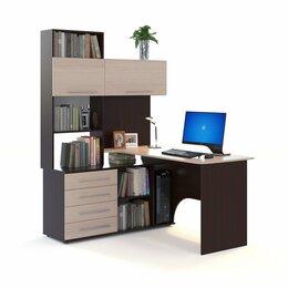 Компьютерные и письменные столы - Компьютерный стол КСТ-14 (Левый) (Венге/Беленый…, 0