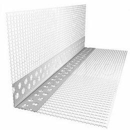 Отделочный профиль, уголки - Уголок штукатурный пвх с сеткой 100х150мм L2,5м, 0