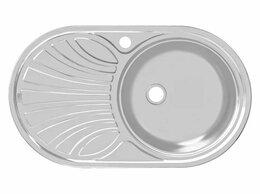 Кухонные мойки - Б/У Кухонная мойка с сифоном и гибкой подводкой, 0