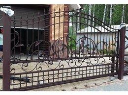 Заборы и ворота - Кованые откатные (въездные) ворота, 0