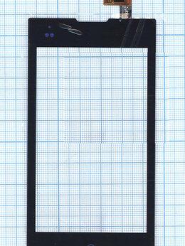 Дисплеи и тачскрины - Сенсорное стекло (тачскрин) для ZTE V815W черное, 0