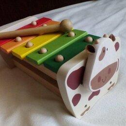 Детские музыкальные инструменты - Деревянный ксилофон-корова 19+ Gulliver, 0