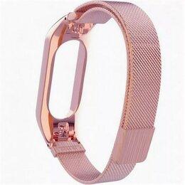 Ремешки для умных часов - Ремешок для Xiaomi Band 3/4 Milanese розовое золото, 0