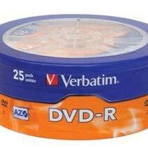 Диски - Verbatim Диск DVD-R Verbatim 4.7Gb 16x Cake Box (25шт) (43730), 0
