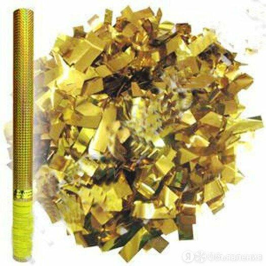 Пати бум Пневмохлопушка в золотой металл. тубе 60 см. арт.109761 по цене 260₽ - Развивающие игрушки, фото 0