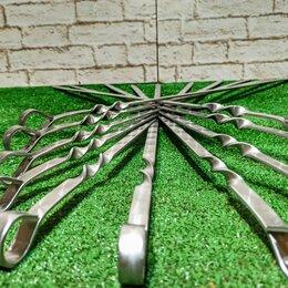 Шампуры - Шампуры 55 см с металлической ручкой, 0