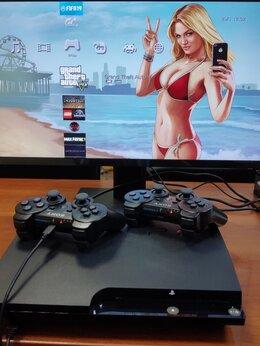 Игровые приставки - Sony Playstation 3 Slim на 320gb,Прошита + игры, 0