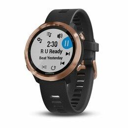 Наручные часы - Часы Garmin (Гармин) FORERUNNER® 645 Music розовое золото с черным ремешком, 0