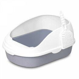 Туалеты и аксессуары  - Лоток для кошек Xiaomi Semi-open Cat Litter (белый), 0