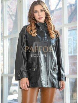 Куртки - Весенняя женская куртка из кожи, 0