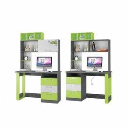 Компьютерные и письменные столы - Стол Письменный С Надставкой Граффити, 0