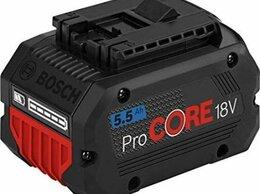Аккумуляторы и зарядные устройства - Аккумулятор bosch 18в 5.5ач procore, 0