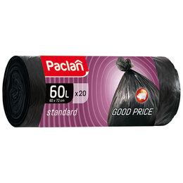 "Мешки для мусора - Мешки для мусора  60л Paclan ""Standard"" ПНД,…, 0"