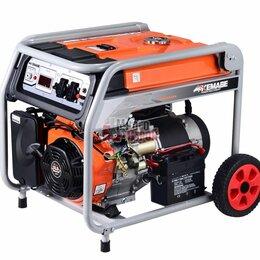 Электрогенераторы и станции - Генератор бензиновый TOR KM4800H 3,3кВт 220В 16л с кнопкой запуска и колесами, 0