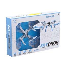 Квадрокоптеры - Квадрокоптер радиоуправляемый SKYDRONE, работает от аккумулятора, цвет красный, 0