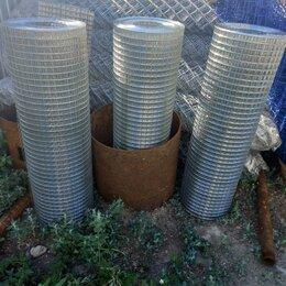Заборчики, сетки и бордюрные ленты - Сетка сварная оцинкованная 1*25 для забора и ограждений из сеток, 0