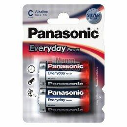 Батарейки - Батарейка тип «C» Panasonic LR14 Everyday 2шт/бл, 0