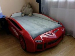 Кроватки - Кровать машина пластиковая объемная 3d, 0