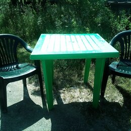 Столы - Стол пластиковый со стульями , 0