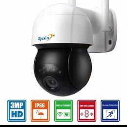 Камеры видеонаблюдения - ZJUXIN 3MP PTZ Wifi IP-камера наружная 4-кратный цифровой зум , 0